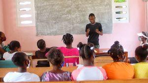 Teacher in classroom male